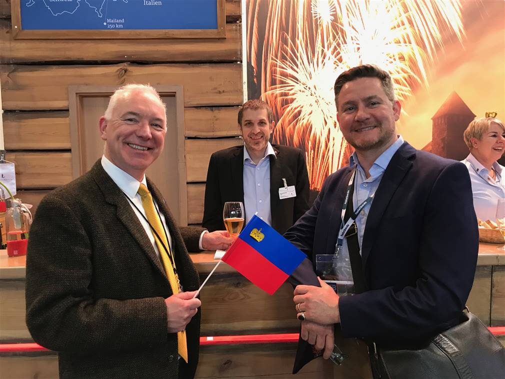 At ITB in Berlin meeting Hotelbeds and Liechtenstein Tourist Board