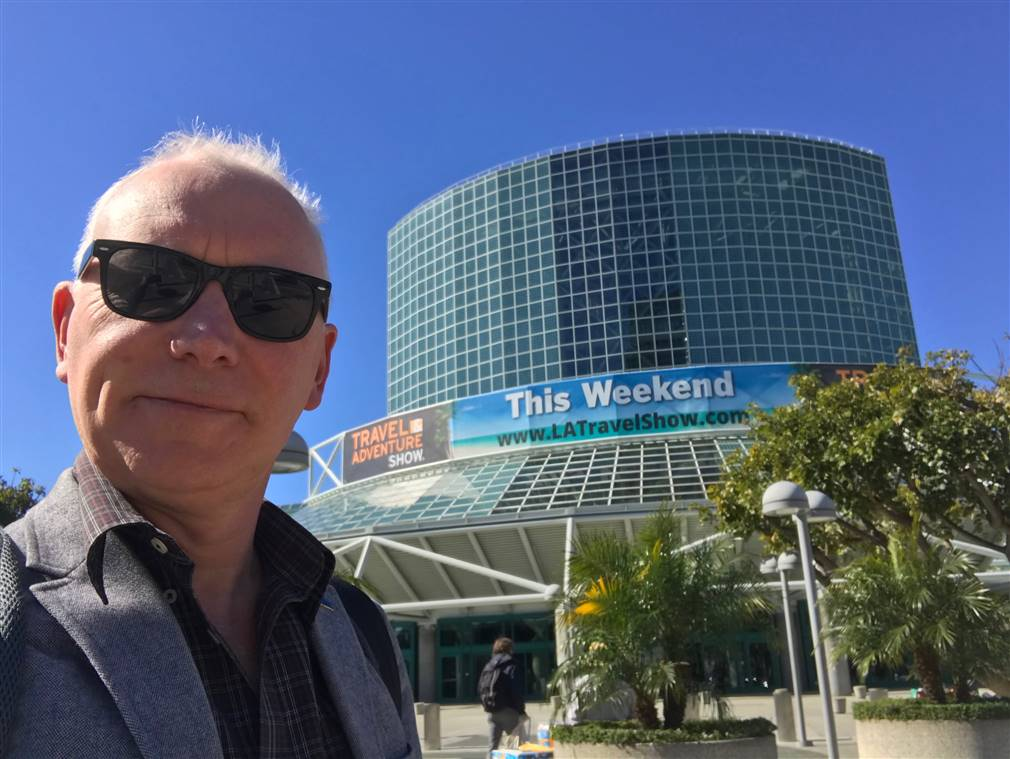 At the Adventure Show in Los Angeles representing EI Group form Ireland