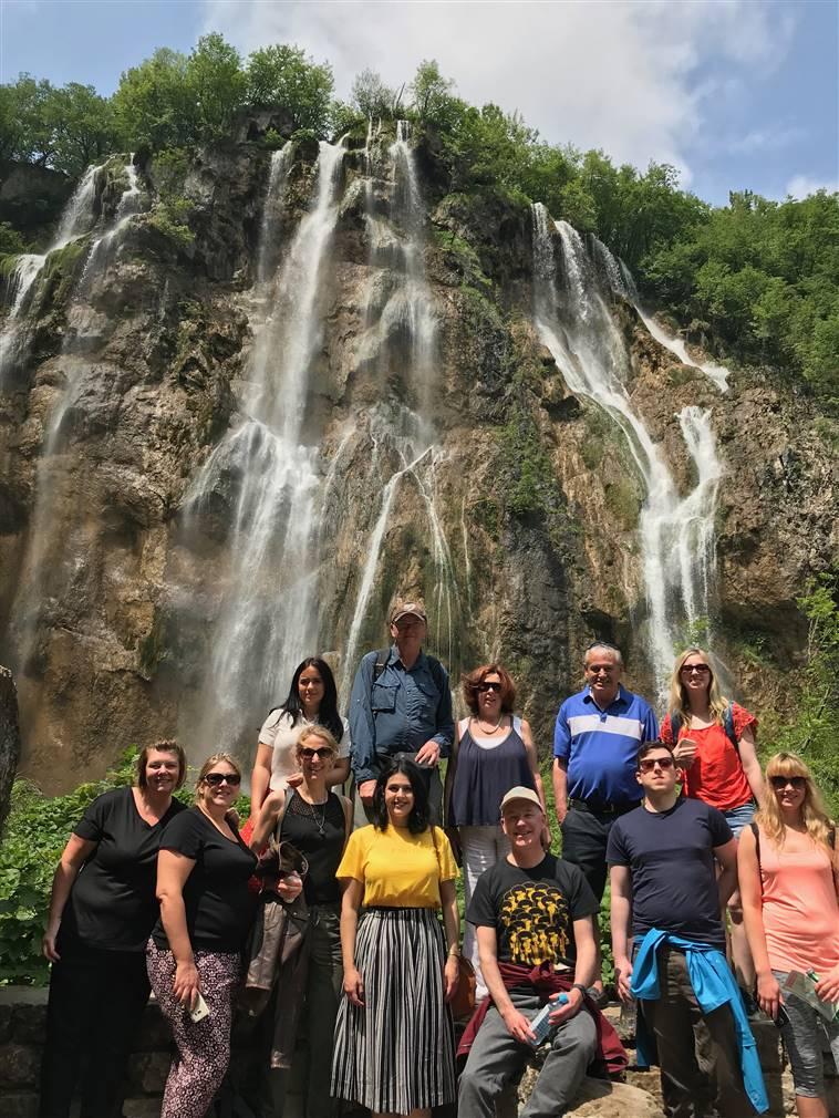 Irish Fam trip group in Plitvice