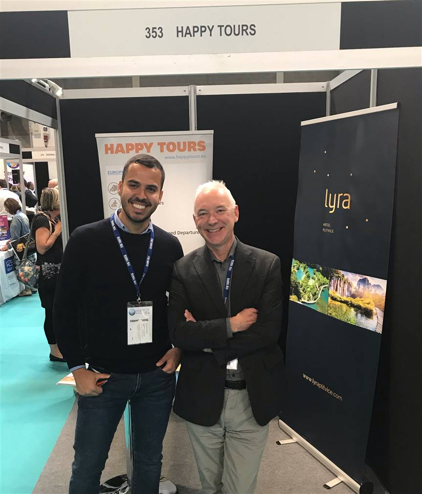 Representing Lyra Hotel at the Group Travel and Leisure Show