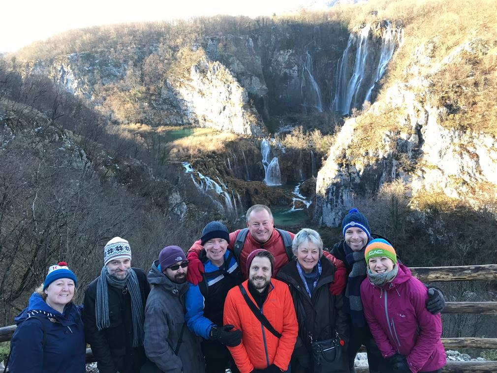 UK Fam trip group in Plitvice