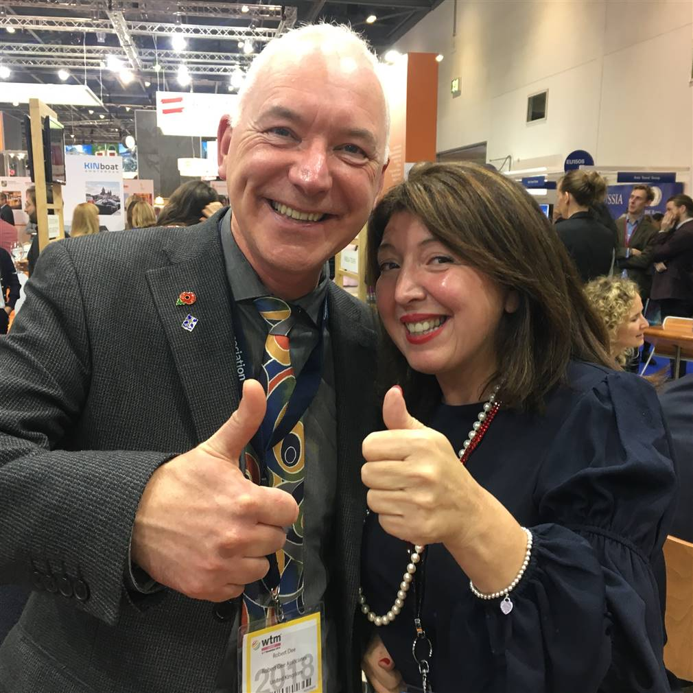 At the World Travel Market with Happy Tours